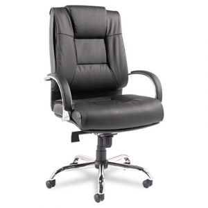 Alera 450 lb SUPERCHAIR Big & Tall Black Leather High Back Executive Office Chair