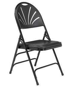 4 PACK HUSKY Seating® 500 LB High Fanback Heavy Duty Plastic Folding Chair