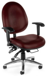 Heavy Duty 24 Hour Big & Tall Ergonomic Task Chair with Anti-Bacterial Vinyl by OFM