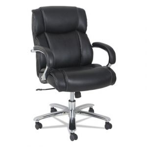 Alera 450 lb Big & Tall Leather Executive Chair with Chrome Base