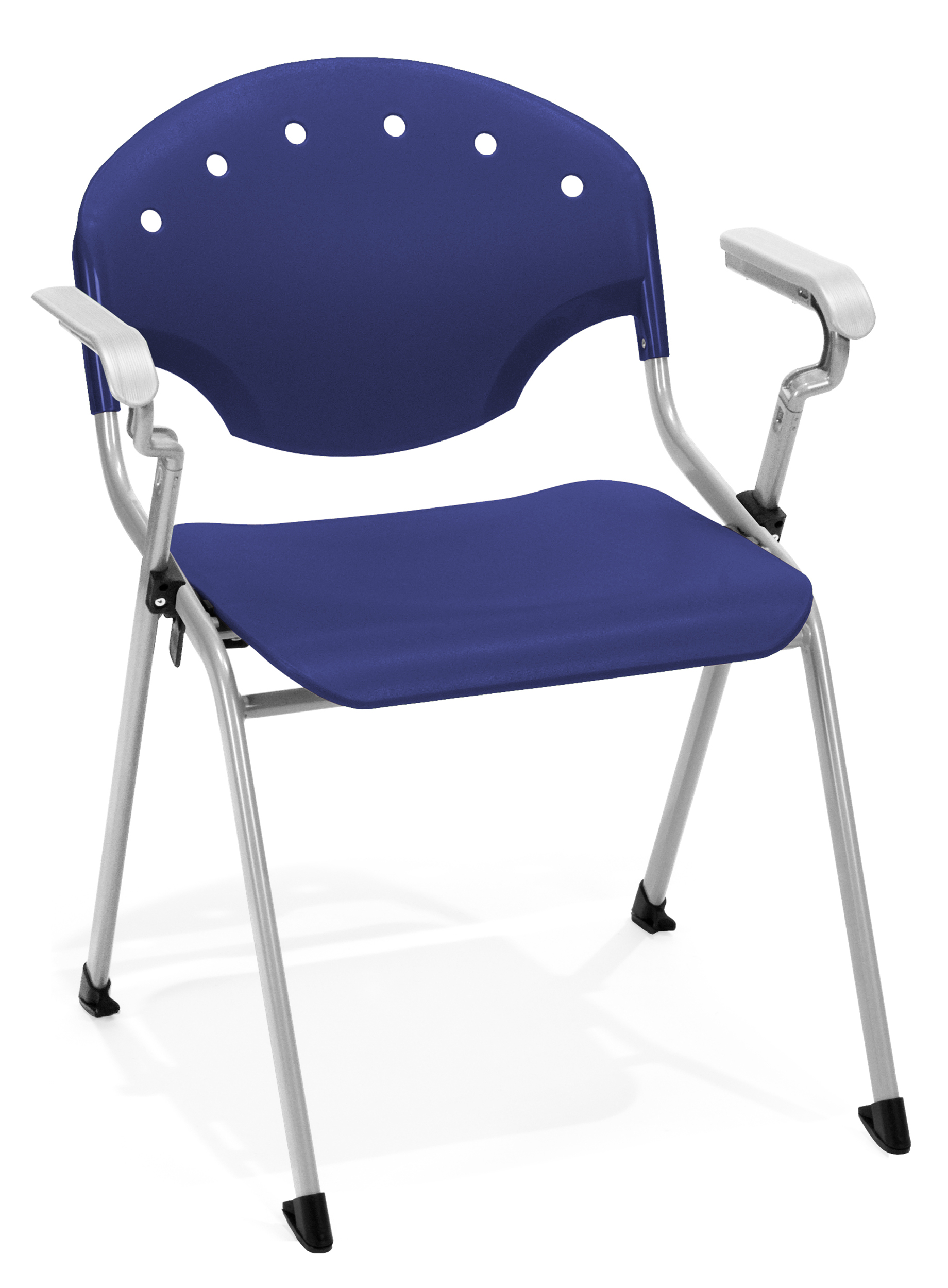 4 PACK OFM Rico Stacking Chair with Arms