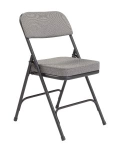 2 PACK HUSKY Seating® 300 LB Extra Thick Fabric Padded Metal Folding Chair