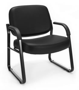 OFM Big & Tall Anti-Microbial/Anti-Bacterial Vinyl Guest Reception Chair with Arms