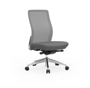 Cherryman Eon 300 LB Ergonomic Armless Task Chair with White Frame