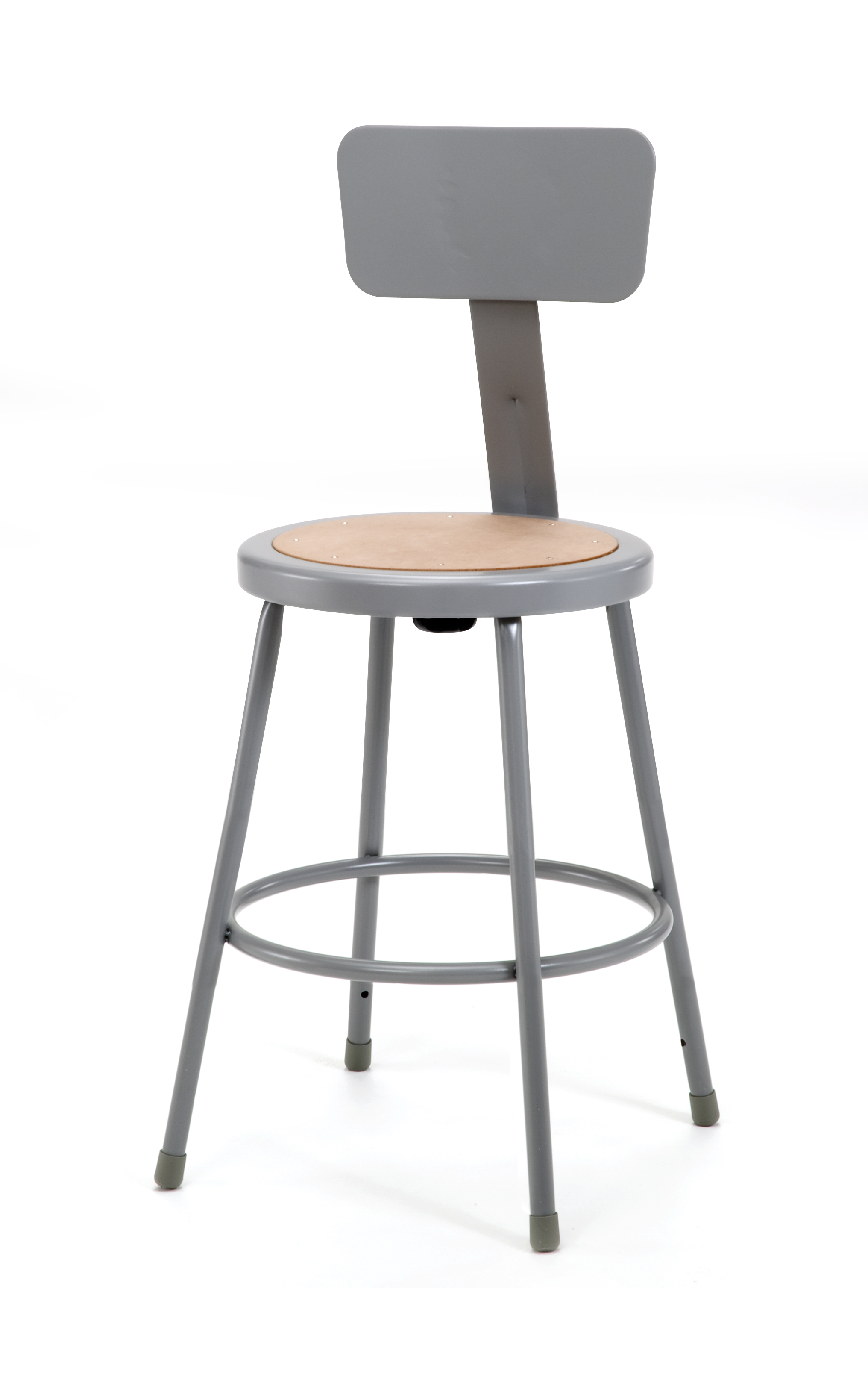 "4 PACK NPS Lab Stool with Backrest - 24"" Seat Height"