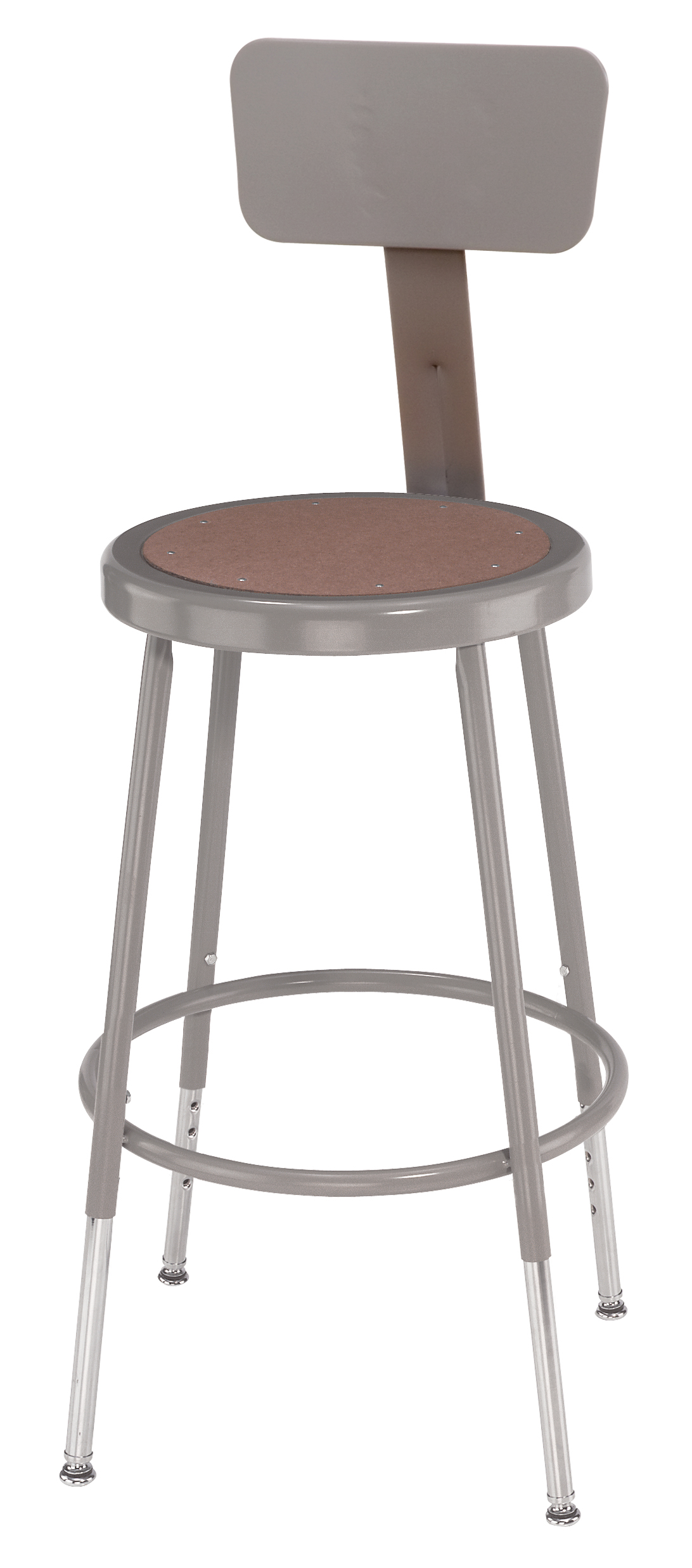 "5 PACK NPS Lab Stool with Backrest - 19""-27"" Adjustable Height"