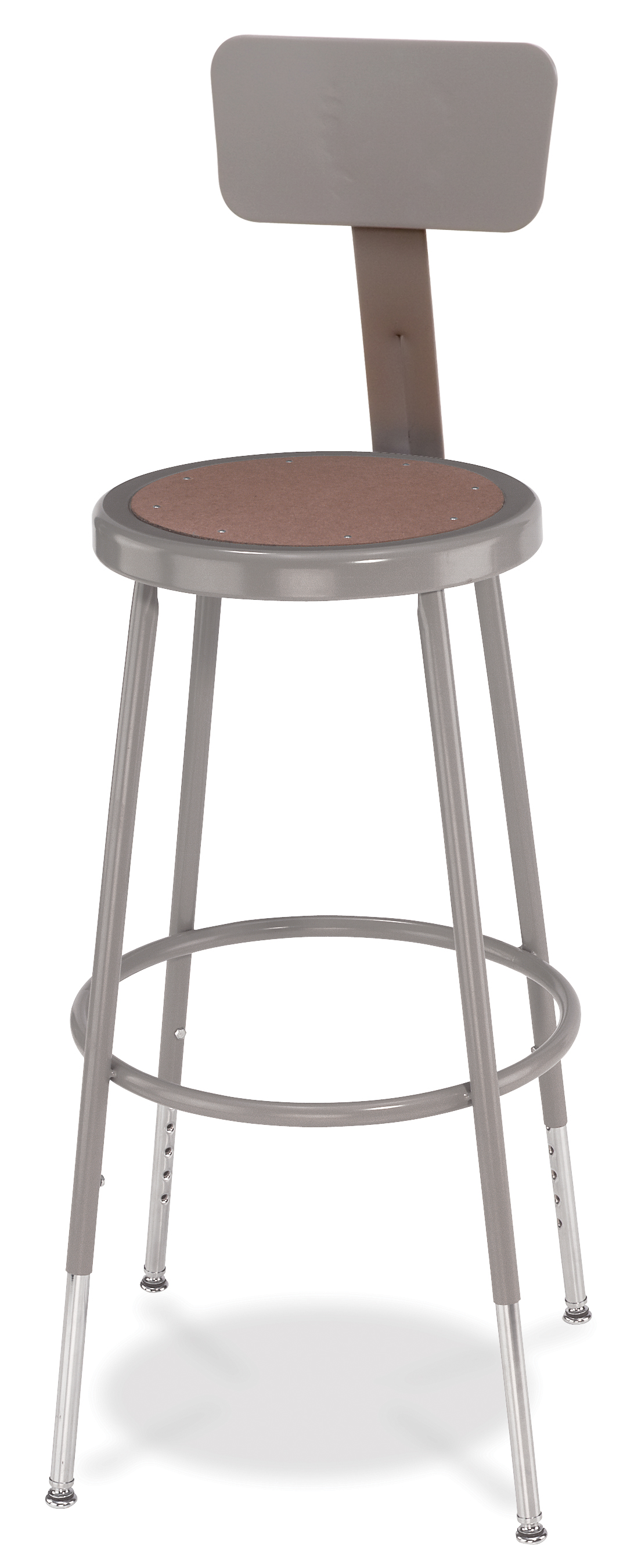 "4 PACK NPS Lab Stool with Backrest - 25""-33"" Adjustable Height"