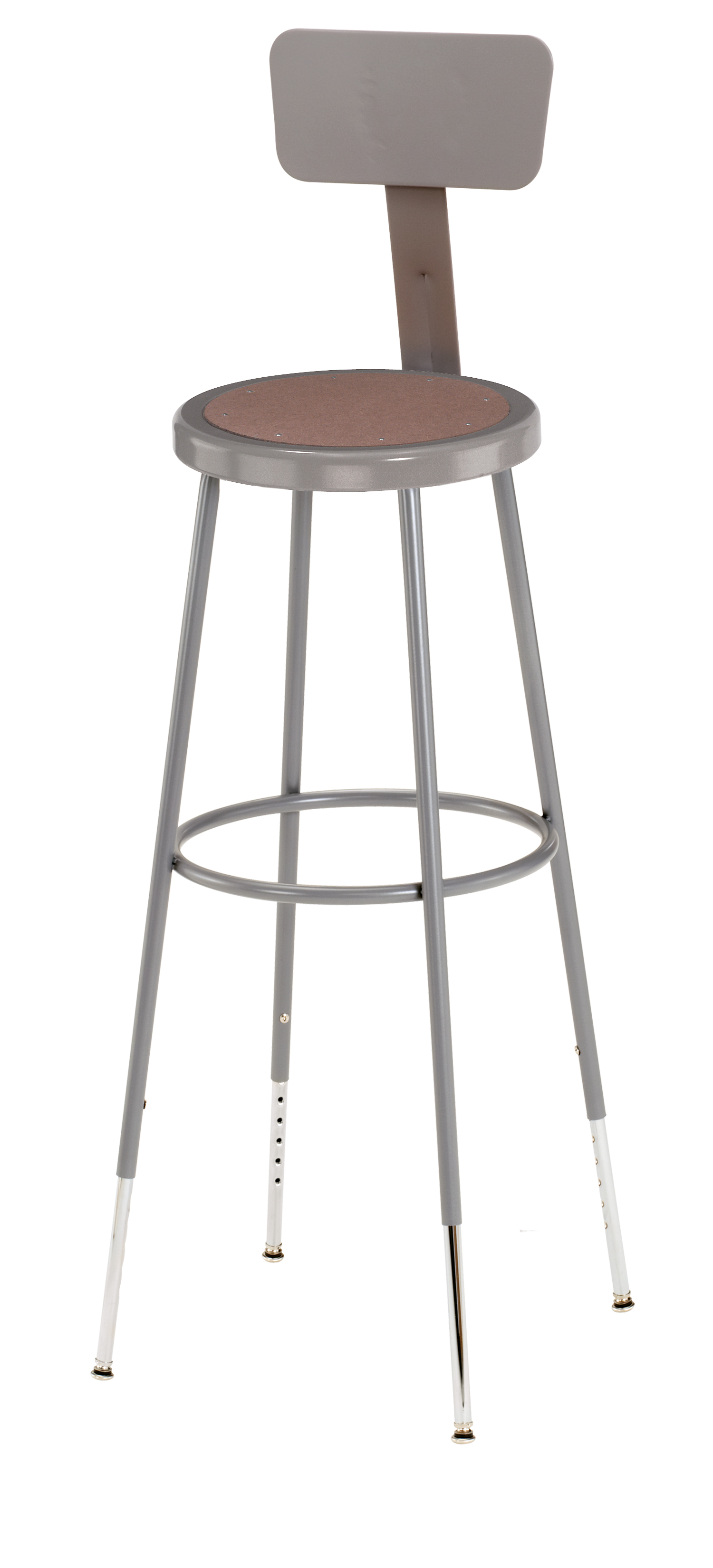 "3 PACK NPS Lab Stool with Backrest - 31""-39"" Adjustable Height"