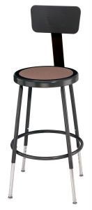 "5 PACK NPS Black Lab Stool with Backrest - 19""-27"" Adjustable Height"