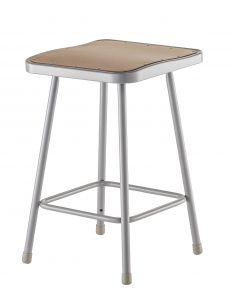 "2 PACK NPS Square Lab Stool - 24"" Height"