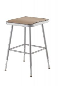 "2 PACK NPS Square Lab Stool - 19"" - 27"" Adjustable Height"