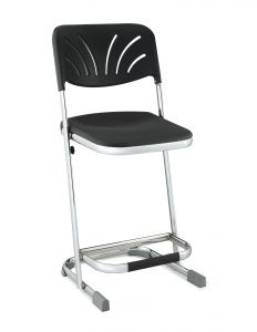 "Stacking Elephant Z-Stool with Blow Molded Seat & Backrest - 22"" Seat Height"