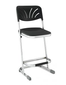 "Stacking Elephant Z-Stool with Blow Molded Seat & Backrest - 24"" Seat Height"