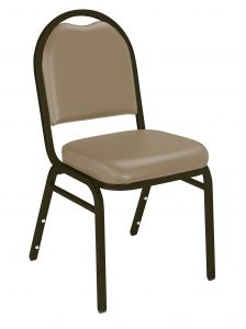 4 PACK National Public Seating 9200 Series Beige Vinyl Stack Banquet Chair - Mocha Frame