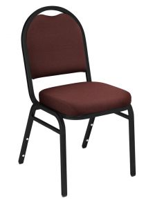 4 PACK National Public Seating 9200 Series Fabric Padded Banquet Chair - Black Sandtex Frame