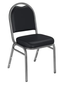 4 PACK National Public Seating 9200 Series Vinyl Padded Banquet Chair - Silver Vein Frame