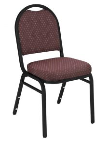 4 PACK Dome 9260 Series Fabric Banquet Stack Chair - Black Sandtex Frame