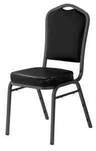 4 PACK Silhouette 9300 Series Vinyl Banquet Chair with Silver Vein Frame by NPS