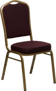 HUSKY Seating® 500 LB Commercial Fabric Banquet Stacking Chair with All Gold Frame