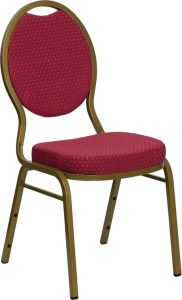 HUSKY Seating® 500 LB Teardrop Stacking Banquet Restaurant Chair with Fabric Upholstery