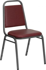 HUSKY Seating® 500 LB Heavy Duty Vinyl Restaurant Banquet Stacking Chair