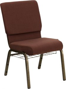 HUSKY Seating® 800 LB Heavy Duty Fabric Auditorium Chair With Book Pouch & Communion Cup Holder