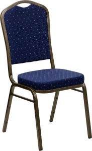 HUSKY Seating® 500 LB Commercial Fabric Banquet Stacking Chair with Gold Vein Frame