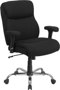 Husky Office® Heavy Duty 400 lb  Big & Tall Black Fabric Office Chair with Lumbar Support