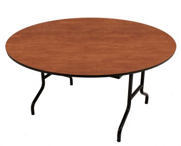 """HUSKY Seating® Heavy Duty 750 LB Commercial Folding Table - Round-72"""" D"""