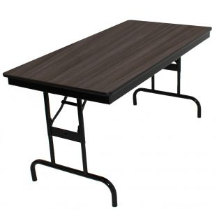 """HUSKY Seating® Heavy Duty 750 LB Adjustable Height Commercial Folding Table - Rectangle-24"""" W x 60"""" L"""