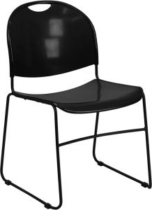 HUSKY Seating® 800 LB Compact Commercial Stack Chair with Sled Base