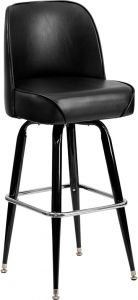 HUSKY Seating® Heavy Duty 500 LB Bucket Seat Bar Stool with Steel Frame