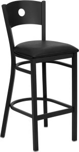 HUSKY Seating® Heavy Duty 500 LB Restaurant Bar Stool with Circle Back