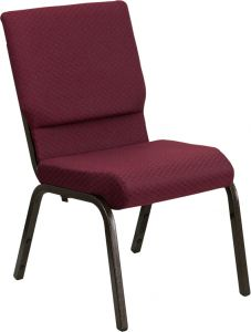 HUSKY Seating® 800 LB Heavy Duty Burgundy Fabric Auditorium Chair - Gold Vein
