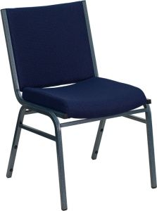 HUSKY Seating® 500 LB Commercial Stack Chair with Overstuffed Fabric Seat