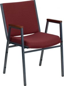 HUSKY Seating® 500 LB Commercial Stack Chair with Overstuffed Fabric Seat and Arms