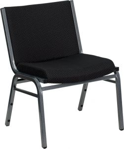 HUSKY Seating® 1000 LB Big and Tall Extra Wide Fabric Stack Chair