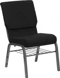 HUSKY Seating® 800 LB Heavy Duty Ganging Auditorium Chair - Silver Vein & Book Rack