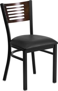HUSKY Seating® 500 LB Slat Back Metal Restaurant Chair