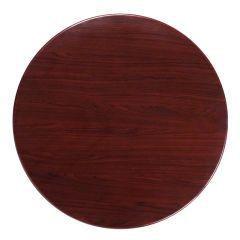 "Pro-Tough Commercial Round Resin Mahogany Table Top-36"" D"