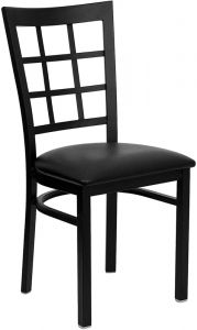 HUSKY Seating® Durable Metal 500 LB Restaurant Chair with Window Back
