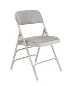 4 PACK HUSKY Seating® 500 LB Fabric Padded Heavy Duty Folding Chair