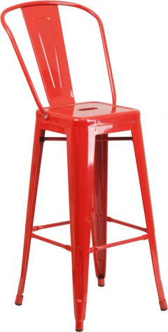"HUSKY Seating® 500 LB 30"" Indoor-Outdoor Metal Bar Stool"