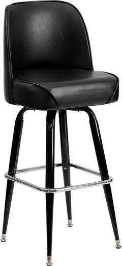HUSKY Seating® Heavy Duty 500 LB Bucket Seat Bar Stool with Steel Frame