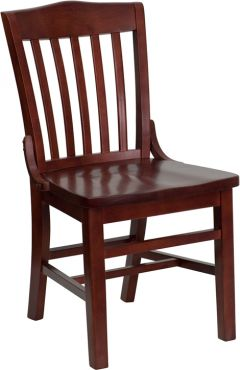HUSKY Seating® Heavy Duty 800 LB Mahogany Finished Wood Restaurant Chair