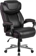 Husky Office® 500 lb Big & Tall Leather Executive Chair with Mesh Trim