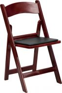 HUSKY Seating® 1000 lb. Commercial Mahogany Resin Folding Event Chair with Padded Seat