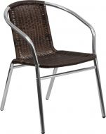 HUSKY Seating® Indoor-Outdoor Rattan Stack Chair with Aluminum Frame