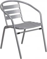 HUSKY Seating® 352 LB Aluminum Slat Metal Indoor-Outdoor Restaurant Stacking Chair