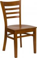 HUSKY Seating® Ladder Back 800 LB Restaurant Chair with Wood Seat